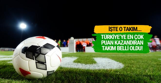 Türkiye'ye en çok puan kazandıran takım belli oldu