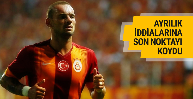 Sneijder ayrılık dedikodularına son noktayı koydu