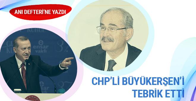 Erdoğan'dan CHP'li Yılmaz Büyükerşen'e tebrik
