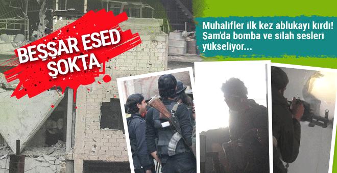 Esad şokta! Kabun ablukası kırıldı