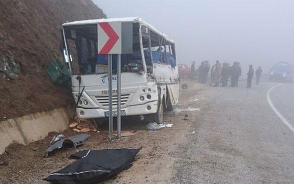 İşçileri taşıyan servis kaza yaptı ölenler ve yaralılar var