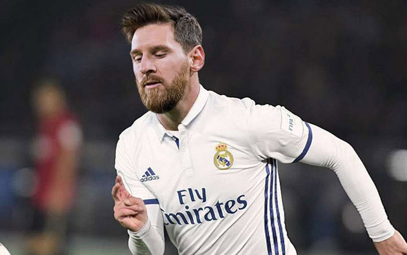 Lionel Messi Real Madrid forması giydi