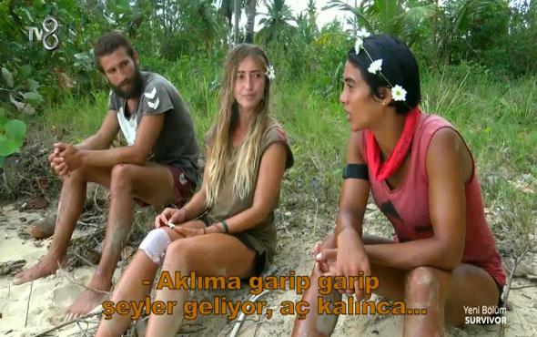 Survivor Sabriye'nin açlıkla imtihanı! 'Kertenkele yenir mi acaba?'