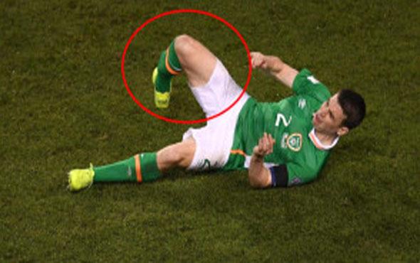 İrlanda Cumhuriyeti'nde Seamus Coleman'ın bacağı tam ortadan kırıldı