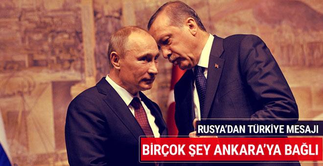 Rusya: Suriye'de birçok şey Ankara'ya bağlı