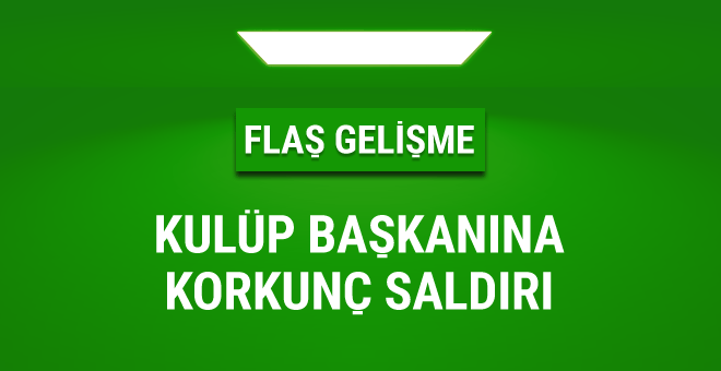 Sivas Belediyespor Başkanı'na bıçaklı saldırı