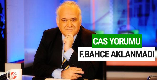 Ahmet Çakar'dan CAS yorumu: Fenerbahçe aklanmadı