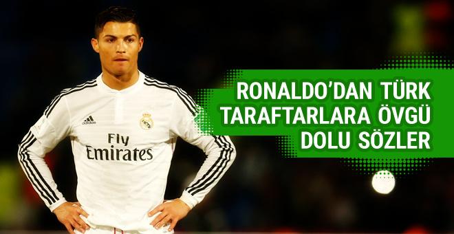Ronaldo'dan Türk taraftarlara övgü
