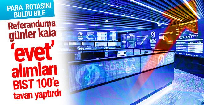 Borsa İstanbul'da referandum rüzgarı