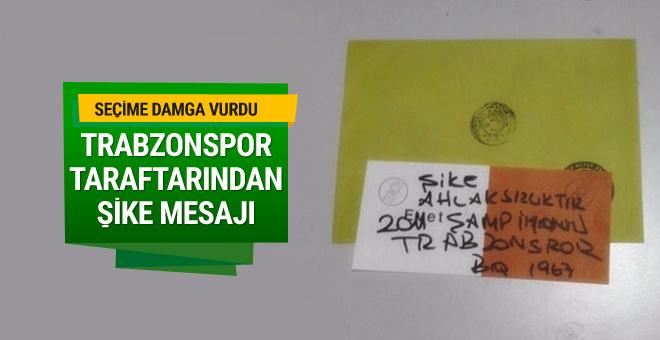 Trabzonspor taraftarından şike mesajı