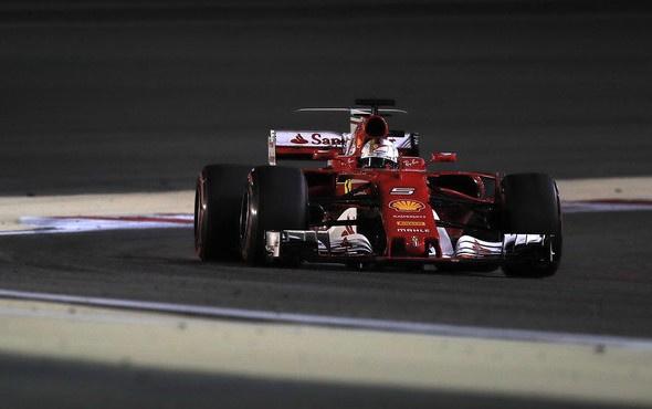 Bahreyn'de zafer Sebastian Vettel'in