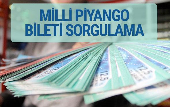 Milli Piyango bileti 19 Nisan çekilişi sorgulama