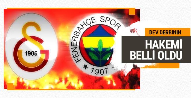 Galatasaray Fenerbahçe maçının hakemi belli oldu