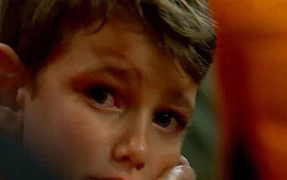 Galatasaraylı minik taraftar gözyaşı döktü