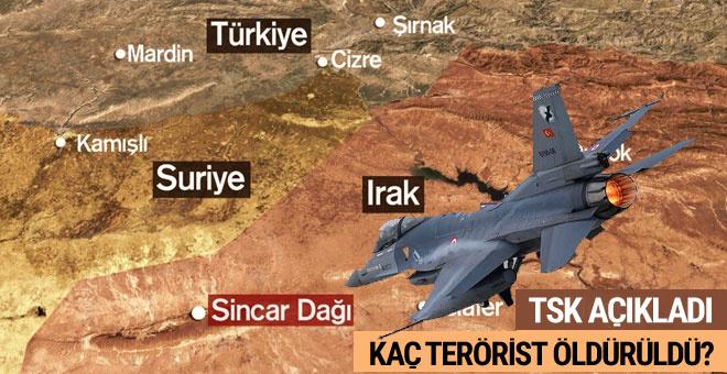 TSK, operasyonlarda öldürülen terörist sayısını açıkladı