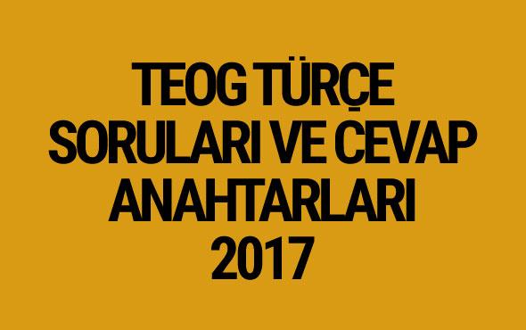 TEOG Türkçe soruları 26 Nisan 2017 cevap anahtarları EBA