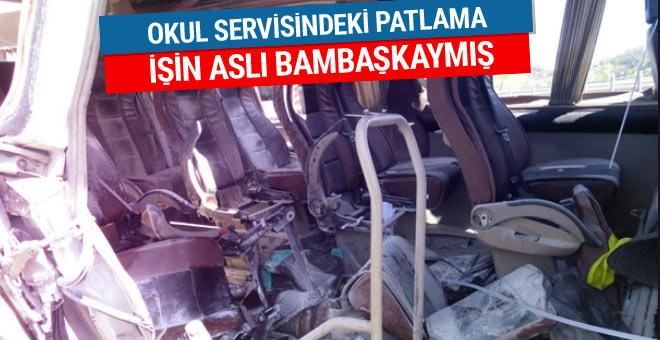 İstanbul'da öğrenci servisindeki patlamanın nedeni son dakika