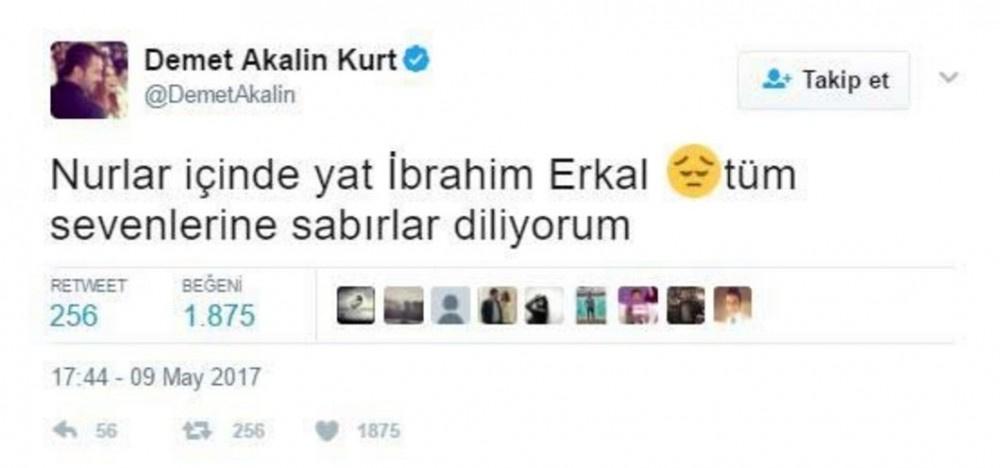 Erkal'ın beyin ölümü ünlüleri yasa boğdu!