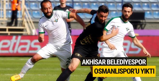 Akhisar Belediyespor Osmanlıspor'u yıktı