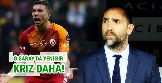 Galatasaray'da Tudor ve Podolski arasında kriz!
