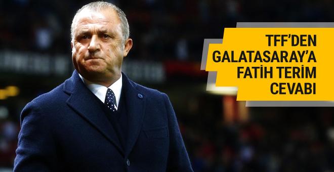 TFF'den Galatasaray'a Fatih Terim cevabı