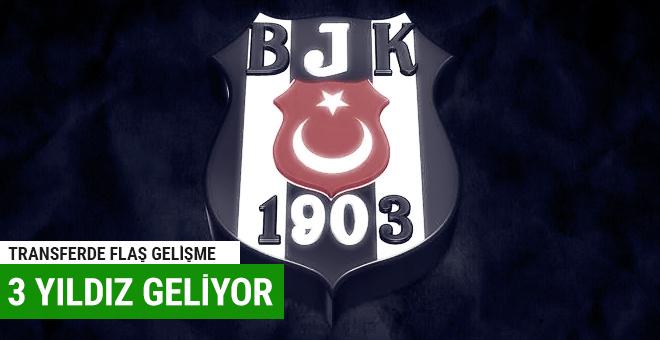 Beşiktaş'a 3 yıldız birden geliyor