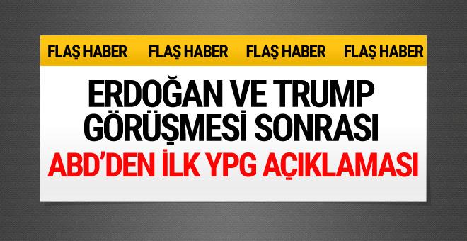 ABD'den YPG ile ilgili flaş açıklama!