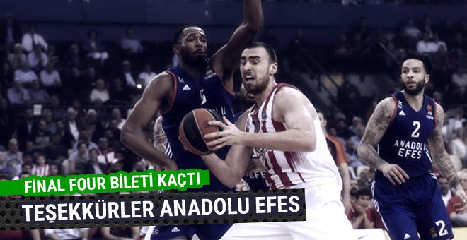 Anadolu Efes Final-Four'a veda etti