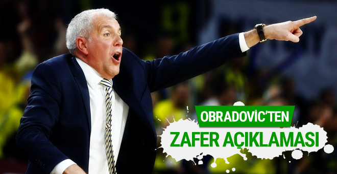 Zeljko Obradovic'ten zafer açıklaması!