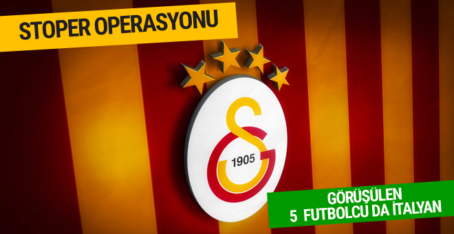 Galatasaray'da stoper operasyonu