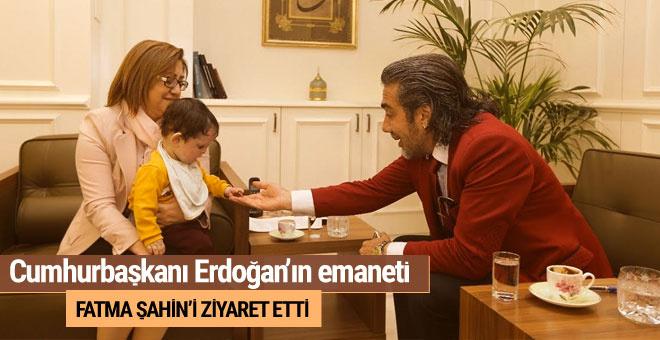 Cumhurbaşkanı Erdoğan'ın emaneti Emrullah'tan Fatma Şahin'e ziyaret