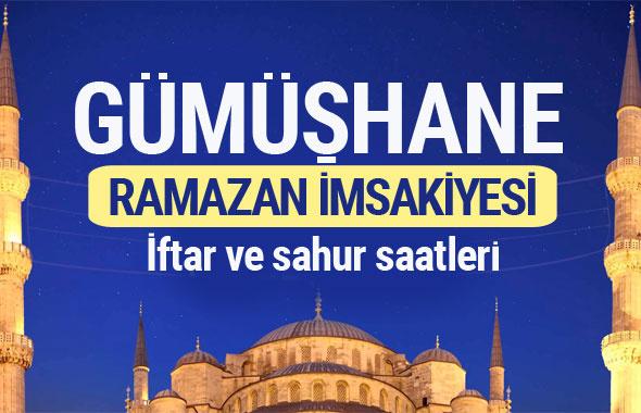 Gümüşhane Ramazan imsakiyesi 2017