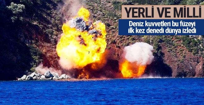 Türkiye yerli füzeyi ilk kez kullandı dünya hayran kaldı