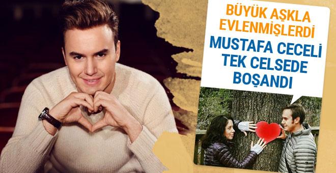 Mustafa Ceceli büyük aşkla evlenmişti tek celsede boşandı