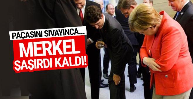 Trudeau'nun çorapları Merkel'i şaşırttı!
