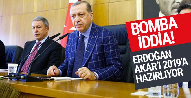 Erdoğan Akar'ı 2019'a hazırlıyor iddiası!