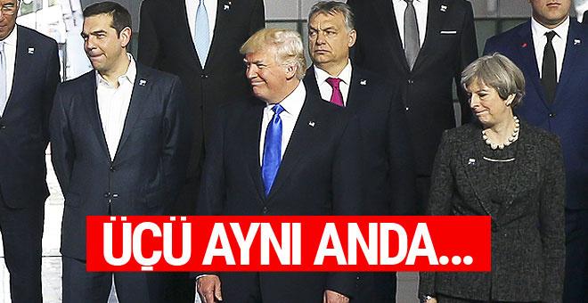 NATO liderler zirvesinden renkli kareler