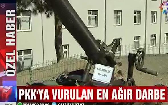 30 yılın en büyük PKK cephaneliği ele geçirildi