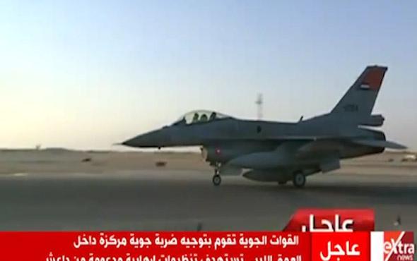 Mısır'ın Libya'ya düzenlediği şok operasyonun görüntüleri