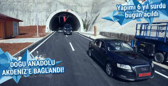 Yapımı 6 yıl süren tünelle Doğu Anadolu, Akdeniz'e bağlandı!