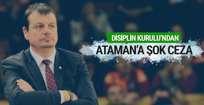 TBF Disiplin Kurulu'ndan Ergin Ataman'a 3 maç ceza