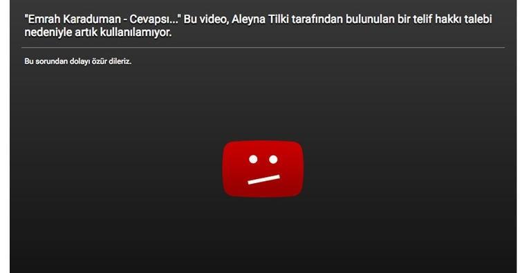 Aleyna Tilki'nin şarkısı Youtube'den kaldırıldı