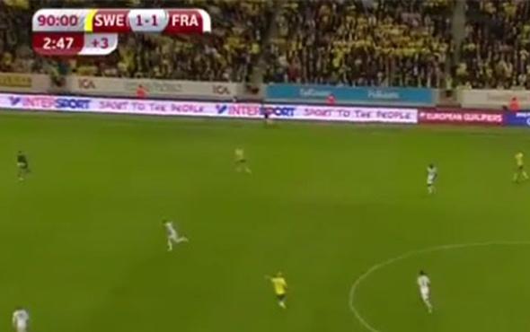 İsveç 90+3'te orta sahadan Fransa'yı yıktı