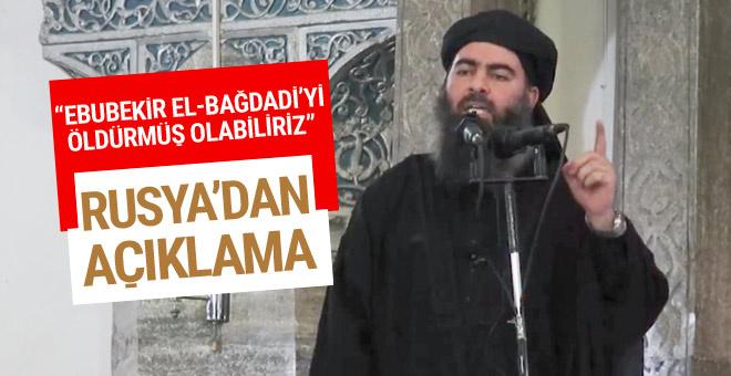 Rus Savunma Bakanlığı, DEAŞ lideri Bağdadi'nin öldürüldüğünü iddia etti