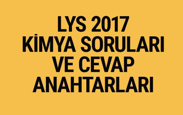 LYS Kimya soruları ve cevapları 2017 ÖSYM ais