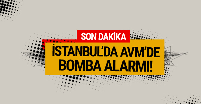 İstanbul'un ünlü AVM'sinde panik yaratan bomba alarmı