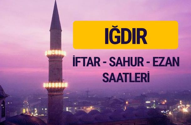 Iğdır iftar saati imsak vakti ve ezan saatleri