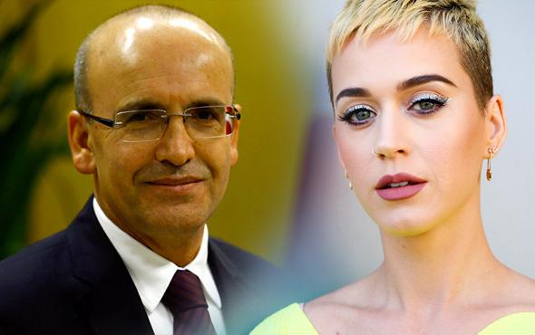 """Mehmet Şimşek'ten Katy Perry paylaşımı """"Ben de benim çok sanırdım..."""""""