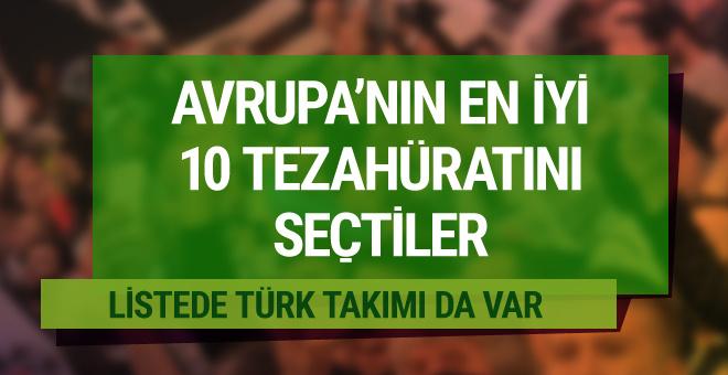 En iyi 10 tezahürat listesinde Türk taraftarlar da var