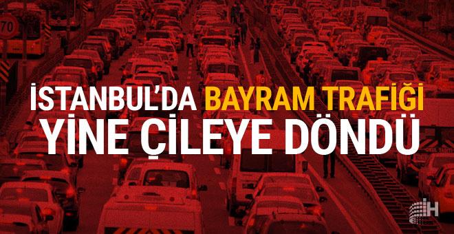 İstanbul trafiğinde bayram yoğunluğu başladı